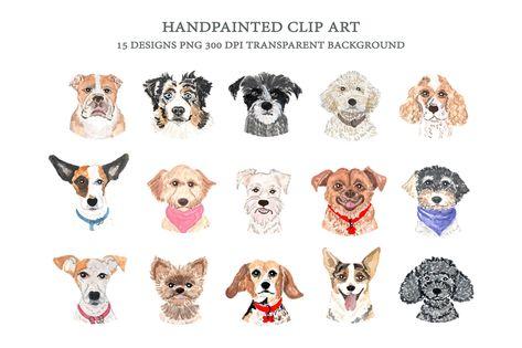 Dog Breeds Faces Clip Art Dog Heads Dog Clip Art