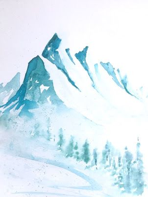 What Is An Easy Way To Paint Mountains In Watercolor Painting