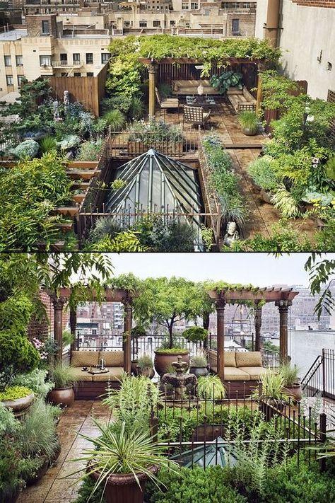 Rooftop Terrace, Terrace Garden, Garden Beds, Rooftop Gardens, Outdoor Gardens, Exterior Design, Interior And Exterior, Dream Garden, Home And Garden