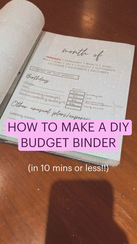 HOW TO MAKE A DIY  BUDGET BINDER