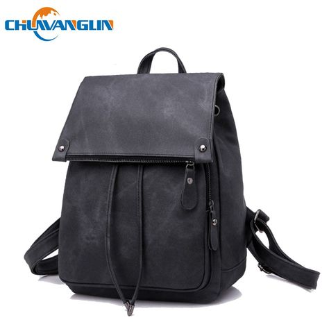 045c9a846e Find More Backpacks Information about Chuwanglin Fashion women s leather backpacks  casual mochila feminina laptop backpack light school bags new women bag ...