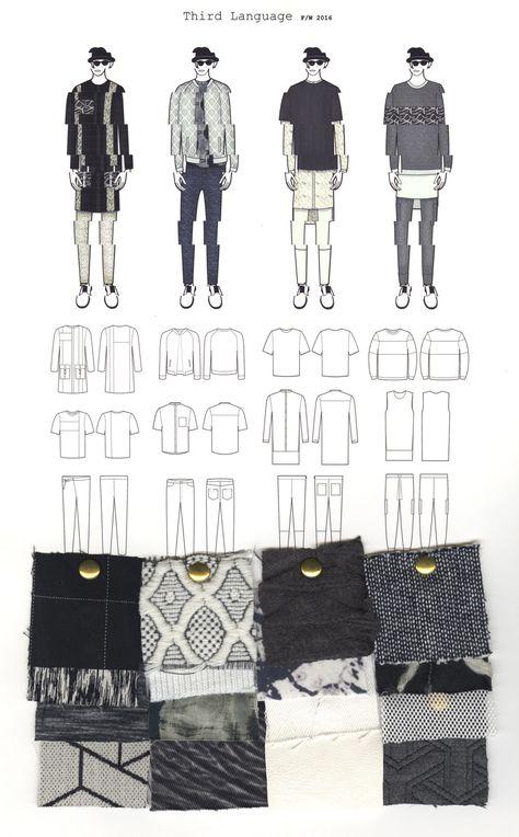 Fashion Portfolio - fashion drawings & textile samples; fashion illustration; fashion sketchbook // Ilse Wolbank