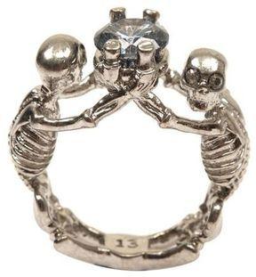 ShopStyle.com: Twin Skeleton Jewel Ring $275.00