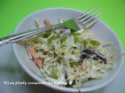Les Plats Cuisines De Esther B Salade De Chou Cremeuse Salade