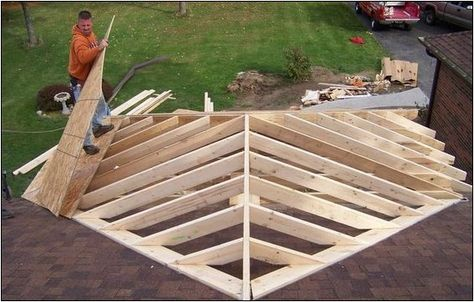 Explore lots of Lovely Porch Roof Framing Roof Framing Porch Addition design ideas from Virginia Coleman to upgrade your dwelling.