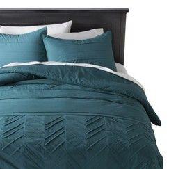 Nate Berkus™ Textured Comforter Set - Teal (Full/Queen)