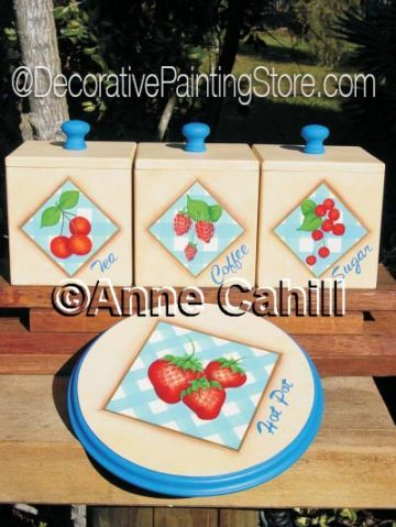 Retro Canisters & Hot Pot ePattern - Anne Cahill - PDF DOWNLOAD