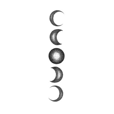 Moon is a feminine symbol and phases of the moon symbolize enlightenment, immortality, eternity, and the dark side of nature. Get in groove with this dazzling moon phases temporary tattoo! Tattoos Skull, Body Art Tattoos, New Tattoos, Tribal Tattoos, Small Tattoos, Sleeve Tattoos, Tattoo Art, Wiccan Tattoos, Symbolic Tattoos