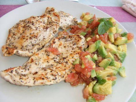 Dieta de pollo y tomate