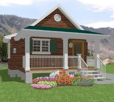 Possible Variation For Cape Cod Pitched Roof Cabin Building A House