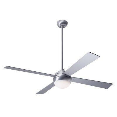 Modern Fan Company 52 Ball 4 Blade Led Ceiling Fan Light Kit Included Motor Finish Brushed Aluminum Blade Finish Aluminum Accessories Wall Cont Modern Fan Ceiling Fan Fan Light Kits