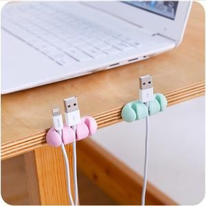 Cable Clip Desk Tidy Winder Earphone Organizer Wire USB Charger Holder Clips MA