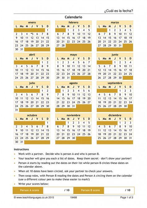 ¿cuál es la fecha  writing practice date in spanish