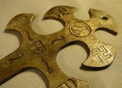 Details about Original Gothic Huron Indian Trade Cross Fur