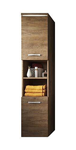Badezimmer Schrank Paso 160 Cm Lefkas Braun Regal Schrank Hochschrank Schrank Mbel 0 Tall Cabinet Storage Storage Cabinet Cabinet