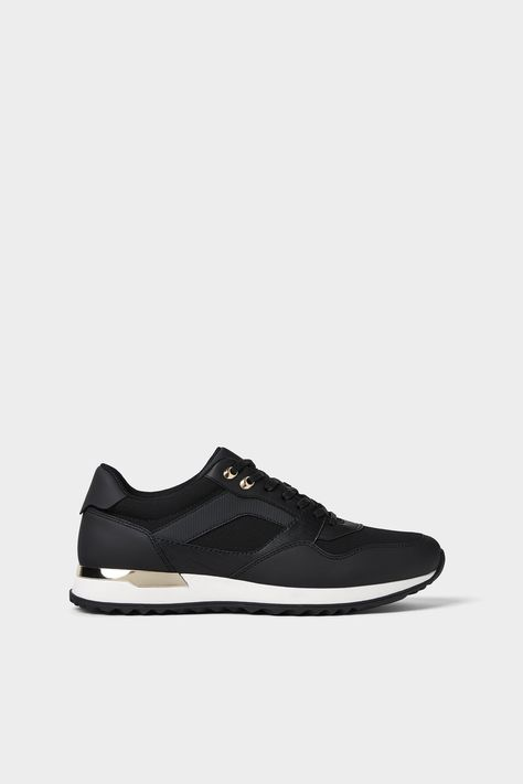 Image 2 of GOLD ACCENTED SNEAKERS from Zara