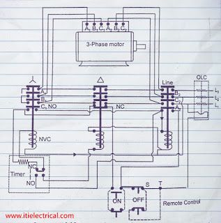 Automatic Star Delta Starter Image Electrical Circuit Diagram Induction Auto Transformer