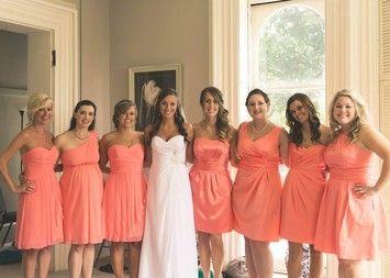 Tangerine Chiffon Dress