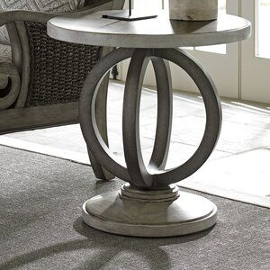 Oyster Bay Pedestal End Table In 2020 Modern Coffee Table Decor Side Table Lexington Home