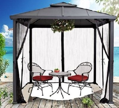 467e1ef9b8be9c87771c9d6993af109f - Better Homes And Gardens Sullivan Ridge Hardtop Gazebo With Netting