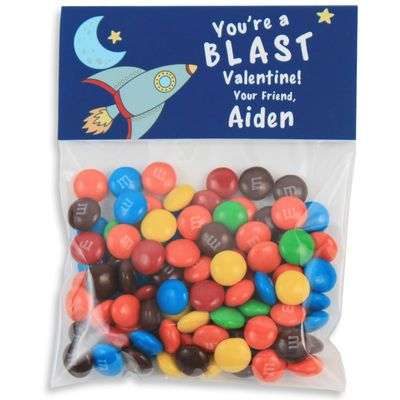 a blast valentines candy bag toppers - Personalized Valentine Candy