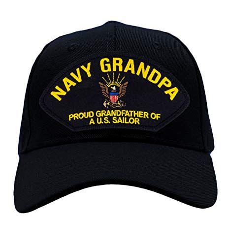 US Navy Grandpa - Proud Grandfather of a US Sailor Hat/Ballcap Adjustable One Size Fits Most | Jodyshop
