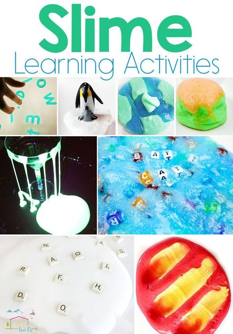 These slime learning activities are ooey gooey and squishy but also help teach an educational lessons like ABCs, sight words or opacity. Kids will go crazy over these! Who knew slime could make such an awesome learning time? #slime #learning #activities #learningactivities #forkids
