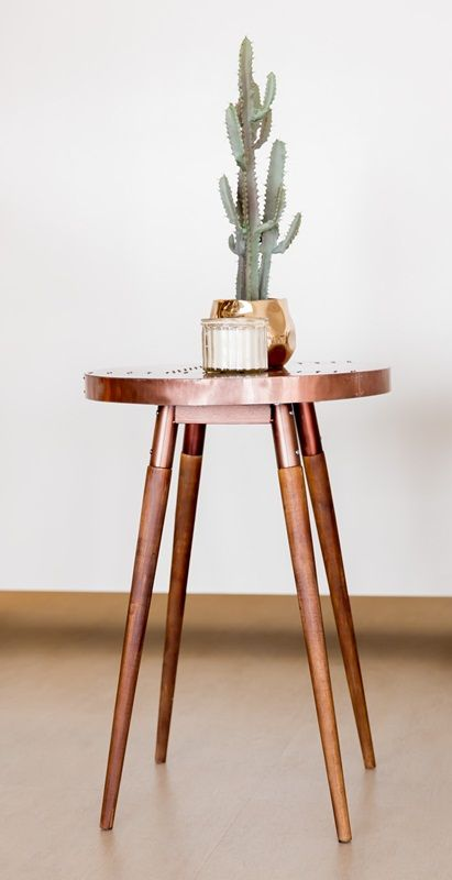 AITKEN TIMBER ROUND COPPER SIDE TABLE End Tables. | Our Products    Thefurnituregallery.com.au | Pinterest | Copper Side Table, Desks And  Living Rooms