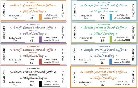 Event Ticket Template for Word DOWNLOAD at http\/\/www - benefit ticket template