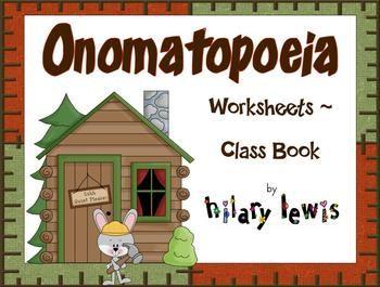 Onomatopoeia - Mini Books or Class Books $4.00
