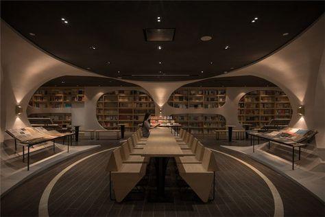 Cette incroyable bibliothèque au cadre digne d un film de science