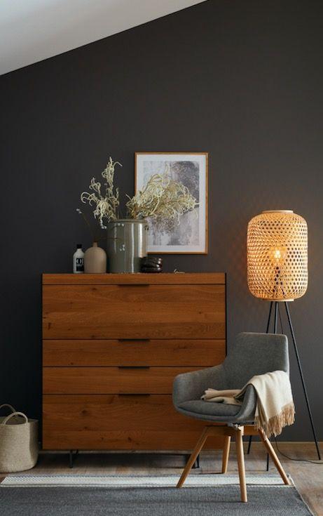 Scandi Look Wandfarbe Grau Schoner Wohnen Designfarbe Schiefergrau Inspiration Wohnzimmer Living In 2020 Wohnen Schoner Wohnen Haus Deko