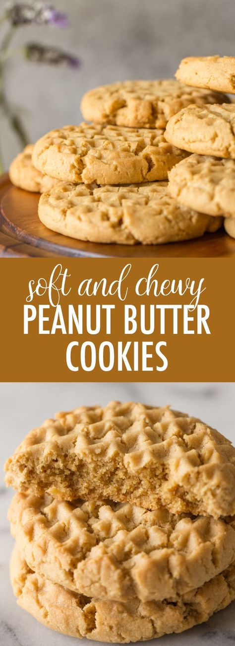 These amazingly delicious Soft and Chewy Peanut Butter Cookies are the perfect thing to make when you are craving something sweet and comforting! #peanutbuttercookies #softcookies #chewycookies #peanutbutter #cookies #dessert