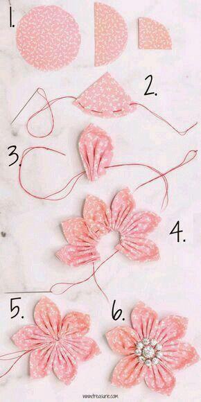 Pin By Gemma Escriva On Aaaaaaaaaaaa In 2020 Fabric Flower Tutorial Fabric Flowers Diy Fabric Flowers