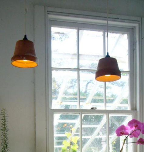 Heute Noch Ein Blumentopf Morgen Schon Eine Lampe Diy Lampen Anhanger Lampen Lampen