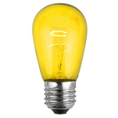 Wintergreen Lighting 11w Yellow 130 Volt Light Bulb Park Of 20
