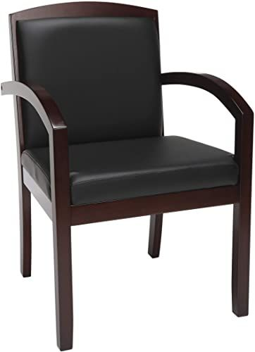 The Hon Topflight Wood Guest Chair Leather Seated Guest Chair Arms Office Furniture Mahogany Finish Vl852 Online Shopping Melyssanicefashion In 2020 Leather Chair Guest Chair Furniture