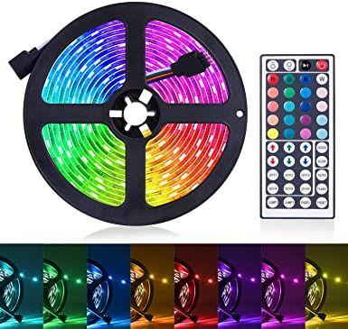Amazon Com Led Strip Lights 16 4ft Rgb Led Light Strip 5050 Led Tape Lights Color Changing Led Rope Light In 2020 Led Light Strips Led Strip Lighting Strip Lighting