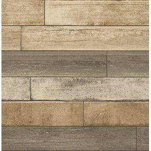 Wood Wallpaper You Ll Love Wayfair Wood Plank Wallpaper Reclaimed Wood Wallpaper Wood Wallpaper