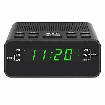 Digital Alarm Clock Radio Small Alarm Clocks For Bedrooms With Am