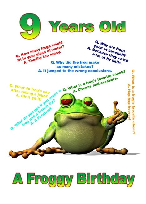 Froggy Jokes Card For A 9 Year Old Card Ad Affiliate Jokes Froggy Year Card Cards Cute Jokes Holiday Flyer Design
