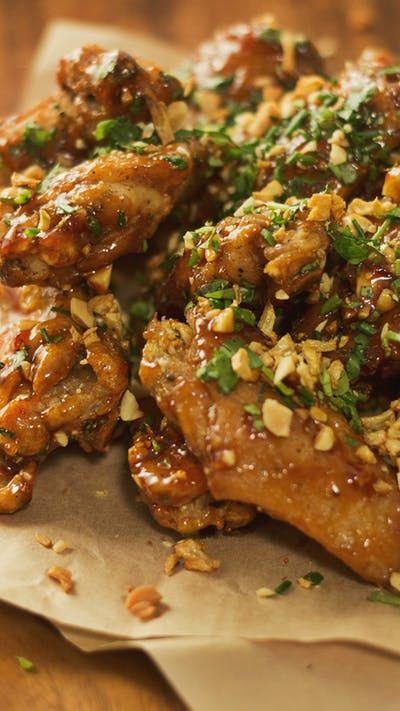 Sayap Ayam Pad Thai Resep Resep Resep Makanan Cina Sayap Ayam Masakan Thailand