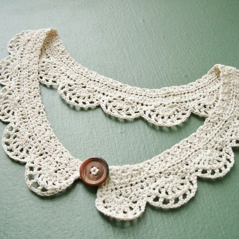 "TADA!! A creation of my own!! "". . . crocheted collars for her trousseau and I don't know what all"" (Kingsolver 150)."