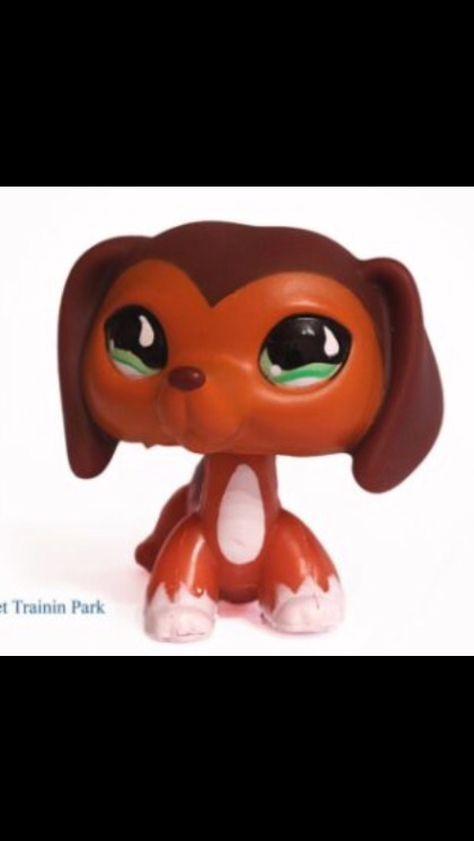 2pcs Dachshund Dog  Savanah #391 #675 Cat Toys Littlest Pet Shop LPS Green Eyes
