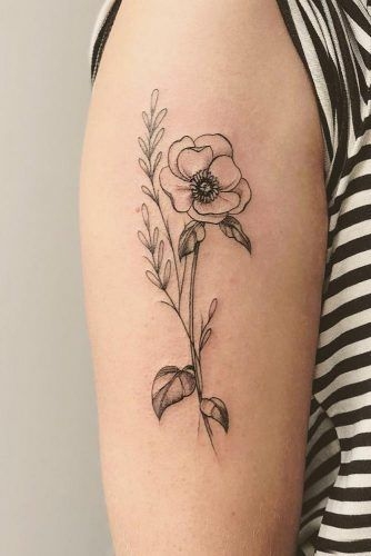 23 Flower Tattoos Designs And Meanings For Your Inspo Tattoo Designs And Meanings Flower Tattoos Black Poppy Tattoo