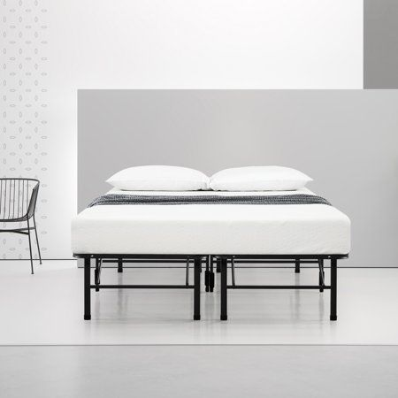 Spa Sensations By Zinus Steel Smartbase Bed Frame Black Twin Walmart Com Bed Frame Fancy Bed Bedroom Styles
