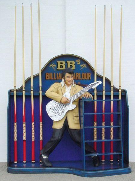Elvis Cue Rack Rock And Roll Singer Elvis Presley