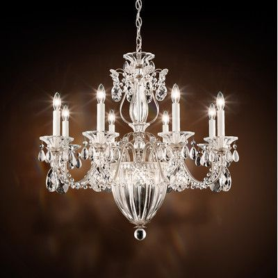 Schonbek Bagatelle 8 Light Crystal Chandelier Finish: Heirloom Bronze, Crystal: Spectra Crystal Clear