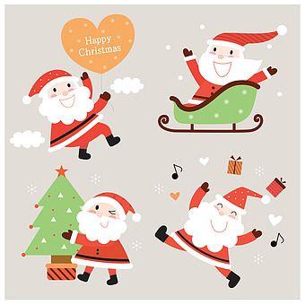 일러스트 크리스마스 산타클로스 겨울 귀여움 미소 문자 영어 크리스마스트리 손들기 들기 만지기 윙크 점프 하트 썰매 타기 선물상자 눈 날씨 사람 캐릭터 12월 계절 크리스마스 카드 크리스마스 트리 크리스마스