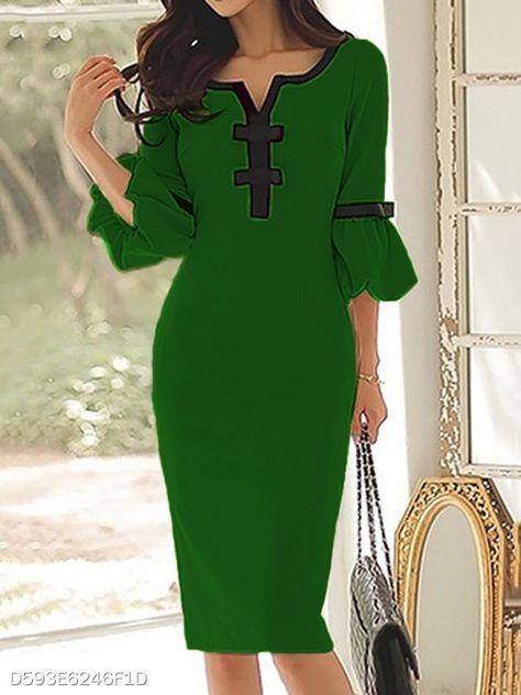 Sweet Heart Plain Blend Bodycon Dress - berrylook.com